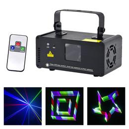 Mini Laser Stage Lighting Remote Australia - AUCD 3D Effect 8 CH DMX Mini IR Remote 400mW RGB Laser Scanner Lights DJ Party Disco Show Projector Stage Lighting TDM-RGB400
