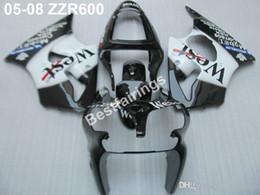 Injection Zzr Australia - Injection mold free customize fairing kit for Kawasaki ZZR600 05 06 07 08 white black fairings set ZZR 600 2005-2008 ZV10