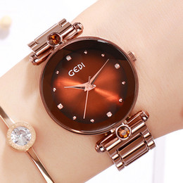 $enCountryForm.capitalKeyWord Australia - GEDI Simple Fashion Trend Student Watch Casual Wild Light Luxury Ladies Bracelet Watch Literary Watch Tide