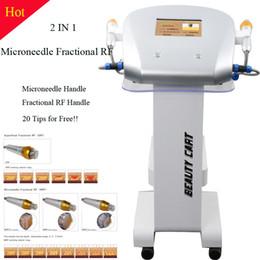 Nuevo Diseño 4 consejos Fraccional máquina de microagujas aguja fraccional RF Micro Skin Care fraccional RF Máquina de belleza en venta