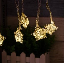 $enCountryForm.capitalKeyWord Australia - 2M 10LED Starry Five-pointed star shape Fairy String Lights, Iron Metal LED Light Battery-powered for Room Decoration