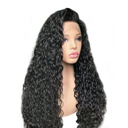 $enCountryForm.capitalKeyWord Australia - Lace Front Human Hair Wigs With Baby Hair Pre Plucked Curly Brazilian Remy Hair Lace Wigs For Black Women Bleached Knots