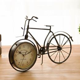 $enCountryForm.capitalKeyWord Australia - Retro Vintage Metal Bicycle Bike Desk Clock Home Decoration Table Clock Ornament Y19062103