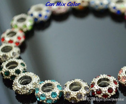 crystal rhinestone wheels UK - new style can mix color big hole sdfwe spacer Wheel Beads Crystal European Bead Bracelet Fit bracelet Rhinestone Loose jewelry y2532 e23