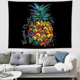 China Printing Animal Pineapple Tapestry Ins Popular Home Decor Polyester 200*148cm Tapestries Living Room Bedroom Decoration Murals BH0939-1 TQQ suppliers