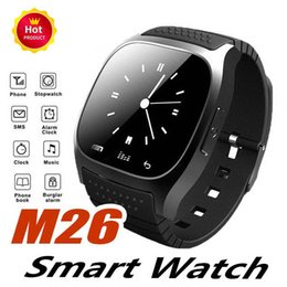$enCountryForm.capitalKeyWord Australia - M26 Bluetooth Smart Watch With SIM Card Slot NFC Health Watchs For Android and IOS Apple Iphone Smartphone Cradle Design free DHL.