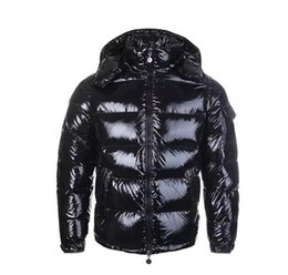 outdoor parka UK - Classic Men Casual Down Jacket MAYA Down Coat Jackets Mens Outdoor Fur Collar Feather Dress Man Winter Warm Outerwear Jackets Parkas
