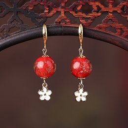 Chinese Style Dangling Earrings Australia - Glass Retro Classical National Wind Simple Jewelry Female Chinese Style Small Fresh Earrings