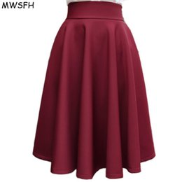 ball umbrella Australia - In The Autumn Winter Grown Place Umbrella Skirt Retro Waisted Body Skirt New Europe And The Code Word Pleated Skirt For Female MX190729