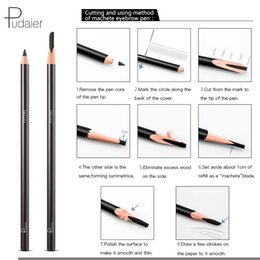 makeup drawings 2019 - 1 Piece Eyebrow Pencil Cuttable Eye Brow Enhancer Eyes Makeup Peel off Drawing Pigment Tint Pen Make up Natural Waterpro