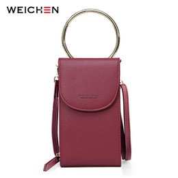 ladies handbags multi pockets Australia - Weichen Multi-functional Shoulder Bags For Women Brand Designer Ladies Small Handbag Female Clutch Purse Phone Pocket Mini Bag Y190619