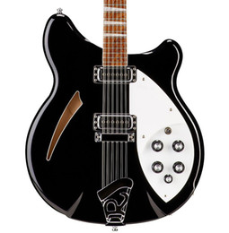 China 12 String Electric Guitars Australia - New Custom Ric Guitar Black 360 12 Strings Electric Guitar Semi Hollow Body Triangle Mother Of Pearloid Fingerboard Inlay China guita