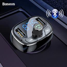 Audio Rock Australia - Baseus Fm Transmitter Aux Modulator Bluetooth 4.2 Usb Car Charger Kit Handsfree Audio Mp3 Player 3.4a Fast Mobile Phone Charger J190427