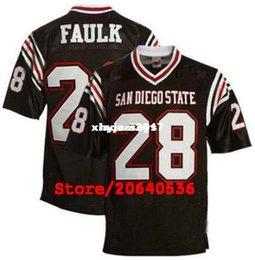 Cheap Custom Men s Aztecs  28 Marshall Faulk College Football Jersey NCAA  black White Stitching Jerseys 4eb99ba8e