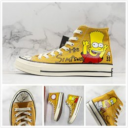 $enCountryForm.capitalKeyWord Australia - Cute Simpson X Covase 1970s HI Canvas Shoes Donuts Hand-painted Limited Figurines Vintage Street Designer Trianer Sports Trend Skateboard