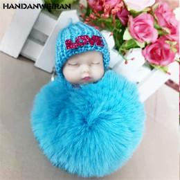 $enCountryForm.capitalKeyWord Australia - 1PCS Sleep Adorable Doll toys Pendant Sleep Baby Rabbit hair ball doll Simulation Baby Cute Creative Pendant Small Jewelry10CM