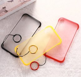 Discount silicone frosted hard case cover - Frosted Translucent PC Hard Case For Iphone X XS Max XR 8 7 Plus 6 6S Samsung Galaxy S10 Plus Fashion Phone Skin Cover W