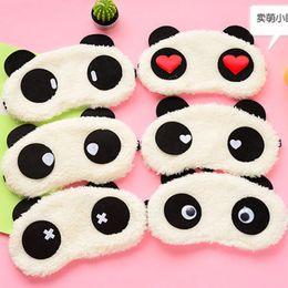 $enCountryForm.capitalKeyWord Australia - 1pc Plush Panda Eye Mask Cartoon Animals Party Mask For Girls Gift Travel Relax Blindfold Sleeping Shading Eyeshade Eyepatch