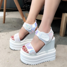 koreans fashion sneakers NZ - Fish Mouth Muffin Bottom Women's Shoes Summer New Korean Version Of The Wild Increase Sneakers Roman Slope With Thick Sandals Y19070203