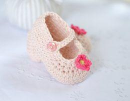 CroChet baby slippers online shopping - Crochet Baby bootie slipper shoes sneaker model number ZKL0019