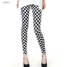 black floral print leggings NZ - Fashion New Legging Digital Slim Stripes Sexy Black Plaid White Leggins Women Leggings Casual Sportwear Floral Printed Legging Female