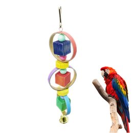 $enCountryForm.capitalKeyWord UK - Parrot Colour Building Block Gnaw Toys Colorful Rings Bite Strings Bird Toys Cross Border For
