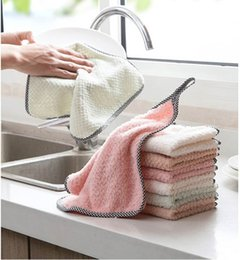 The Spot!! Cleaning Cloths Home Kitchen Household Wash Duster Cloths Multifunctional Microfibre Towel Cleaning Cloth A08 on Sale
