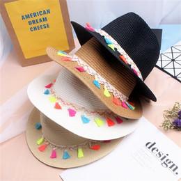 8f5e7a0db93f3 Tassels Beach Straw Hat For Women Sunshade Formal Hats Wide Eaves Sun Cap  Summer Lady Colourful Lovely Fashion 11 5xx D1