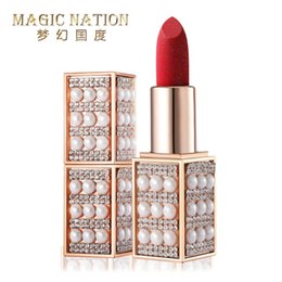 yellow lipsticks Australia - Magic Nation Beauty Pearl Starry Diamond Lipstick 6 colors Long-lating Moisture Velvet Makeup Lips