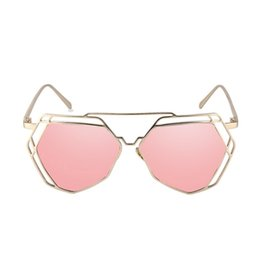 $enCountryForm.capitalKeyWord UK - Korean Version Of Color Film Sunglasses Ladies Trend 2019 Round Face Metal Hollow Personality Sunglasses Female Polygon Glasses
