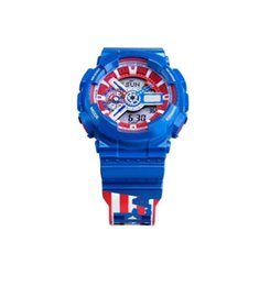 Wholesale Hot Selling Mens Marvel Designer watches All Pointers Work Auto Light Waterproof LED Watches Captain America Clock Relogio Masculino