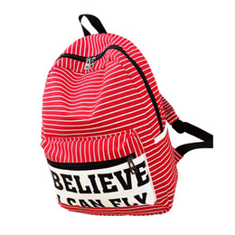 $enCountryForm.capitalKeyWord NZ - Fashion Men Women Travel Backpack Canvas Striped Letter Printed Casual Shoulder Bag Zipped Student School Bags Fa1