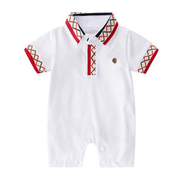 neonatal clothing NZ - Baby's clothes Summer Jumpsuit Baby's thin short-sleeved jacket Climbing clothes Neonatal pure cotton summer clothes