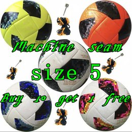 Footballs ball online shopping - Best European Machine seam ball Soccer ball Final KYIV size balls granules slip resistant football