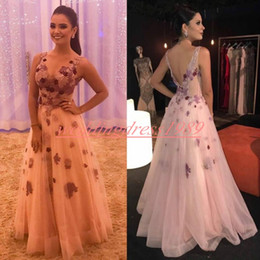 ed696755e1 Beautiful V-Neck Applique 2019 Prom Dresses Floral Sheer Juniors Evening  Dress African Cheap Party Formal Gowns Robe De Soiree Cocktail