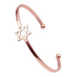 $enCountryForm.capitalKeyWord UK - Cuff Bangle For Women Star Bangle Boho Indian Jewelry Pulseras Color Gold Silver Charm Bracelets & Bangles
