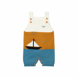 China New Baby Boys and Girls Romper Kids Knitted Boat Suspender One Piece Jumpsuit Fashion Toddler Clothes supplier toddler boy one piece romper suppliers