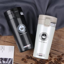 Electric Hot Warmer Australia - Hot Quality Double Wall Stainless Steel Vacuum Flasks 380ml Car Thermo Cup Coffee Tea Travel Mug Thermol Bottle Thermocup C19041601