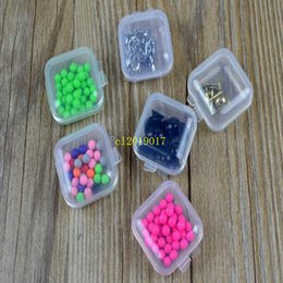 bead organizer container Australia - Mini Clear Plastic Small Box Jewelry Earplugs Storage Box Case Container Bead Makeup Clear Organizer Gift
