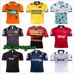 Опт 2019 Chiefs Super Rugby Jersey Новая Зеландия Super Chiefs Блюз Ураганы Крестоносцы Highlanders 2019 Рубашки для регби Майки РАЗМЕР: S-3XL