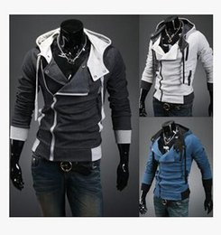 Assassin S Creed Cosplay Coat Australia - Mens Assassins Creed 3 Desmond Miles Costume Hoodie Cosplay Jackets Coat Hoodie Cosplay Coat COS Jacket M-6XL direct from factory