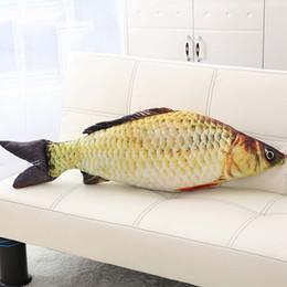 Fish Bedding UK - 1PCS Simulation Carp Stuffed Fish Plush Toys Christmas Gift Pillow Kids Creative Sofa Bed Pillow Appease Baby Kids Toy