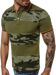 camouflage polo shirts men NZ - 2019 men's POLO shirt Men's stitching T-shirt 3D digital printing camouflage fashion Casual Tees Short Sleeved Tops