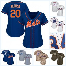 Discount customized youth baseball jerseys - Womens Youth 20 Pete Alonso 2019 Golden Edtion 2018 Spring Training Jersey Baseball Jersey Double Stitched Name and Numb