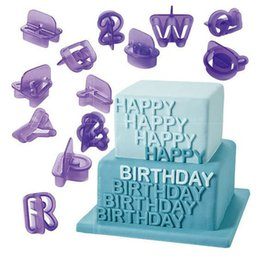 fondant cut NZ - Luyou 40pcs Alphabet Number Letter Cake Cutting Mould Fondant Decorating Set Icing Cutter Mold Handle Baking Tools Decor