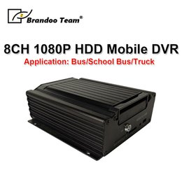 trucking gps 2019 - 1080P H.265 Mobile DVR HDD Car DVR 8CH Hard Disk MDVR 4G GPS Remote Monitoring For Truck   Bus   School bus special disc