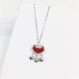 Heart Shaped Chains For Couples Australia - Broken Heart Shape Chain Pendant Necklace Statement 925 Gold  silver for lover couple friends Jewelry Gift 2019 drop shipping