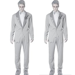 mummy suit Australia - Special Mummy Zombie Cosplay Costumes set Party Fancy clothes for Christmas Halloween tshirt + jacket + pants vampire suit men