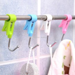 plastic clothing pegs NZ - clamp hook Clothes Hooks Peg laundry folder Hanging Clothes Rails Clips Clothespins Socks Underwear Drying Rack organizer DHL WX9-1824
