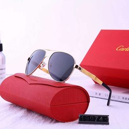 Wholesale Summer Mens Metal Designer Sunglasses Luxury Sunglasses Brand Sunglass Fashion Goggle Style Glasses Model UV400 High Quality with Box
